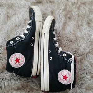 Converse Fat Tongue Mid Top Sneakers Black & Red